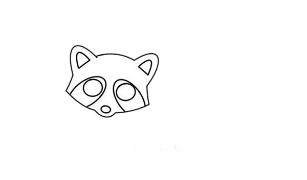 浣熊怎么画简笔画简朴又漂亮 中级简笔画教程-第4张