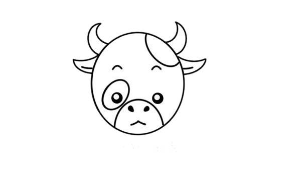 卡通奶牛简笔画,奶牛儿童画图片 中级简笔画教程-第4张
