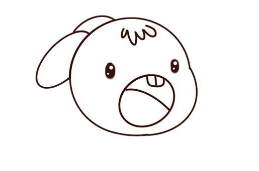 可爱兔子简笔画彩色_卡通兔子简笔画步骤图片大全 动物-第4张
