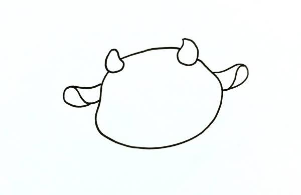 QQ红包牛怎么画 中级简笔画教程-第3张