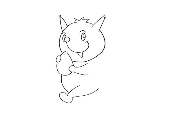 小松鼠怎么画j简单又可爱 卡通松鼠简笔画教程 中级简笔画教程-第3张