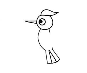 啄木鸟怎么画,儿童简笔画啄木鸟画法 中级简笔画教程-第5张