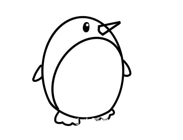 可爱的企鹅简笔画 中级简笔画教程-第5张