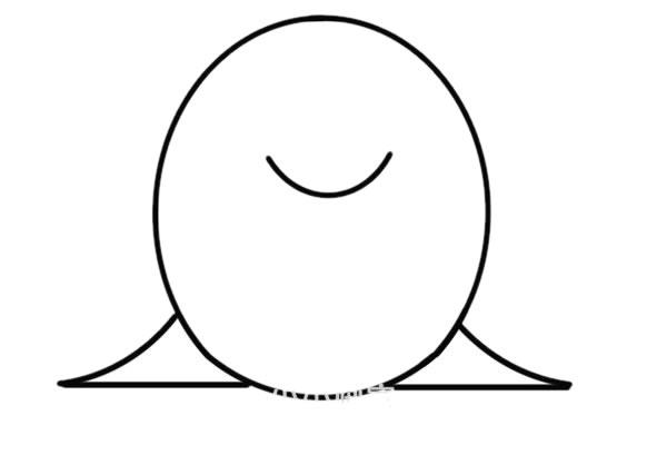 卡通海狮简笔画可爱画法步骤步骤教程 动物-第3张