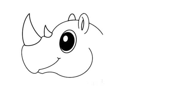 犀牛简笔画彩色画法教程 初级简笔画教程-第4张