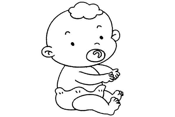 8款小婴儿简笔画大全可爱 人物-第1张
