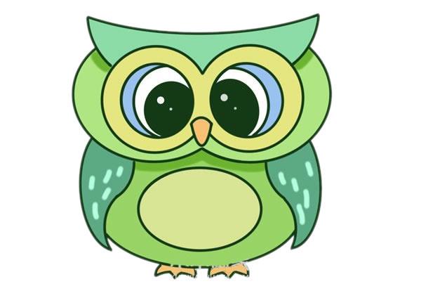 猫头鹰怎么画,儿童简笔画猫头鹰 动物-第1张