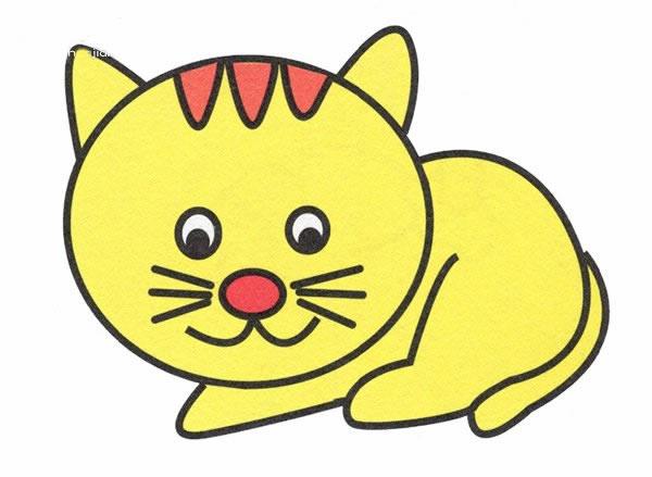 简单好看的小花猫简笔画画法 初级简笔画教程-第1张