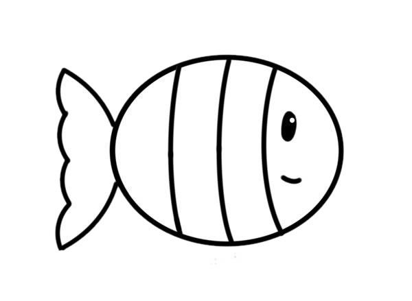 简笔画小丑鱼的画法步骤_可爱小丑鱼简笔画步骤图片 动物-第4张