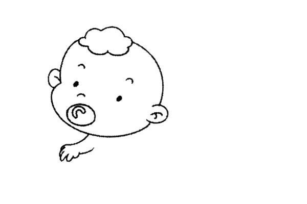 简单九步学画小婴儿简笔画 中级简笔画教程-第5张