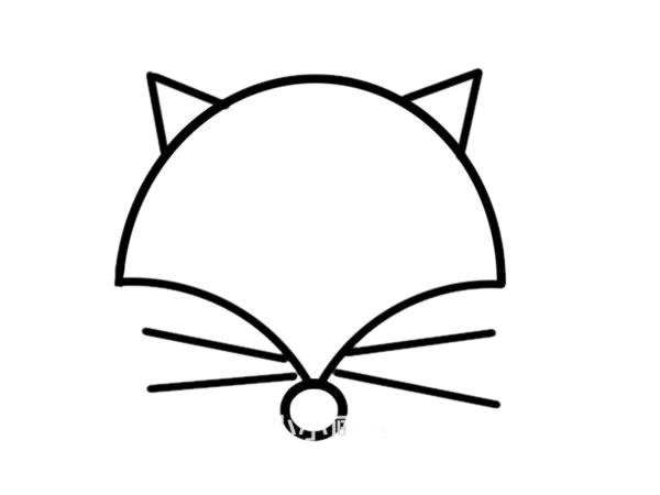 彩色狐狸头像简笔画步骤画法步骤 动物-第3张