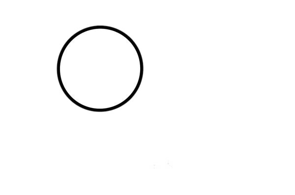 水中的小黄鸭简笔画画法步骤步骤图片 动物-第2张
