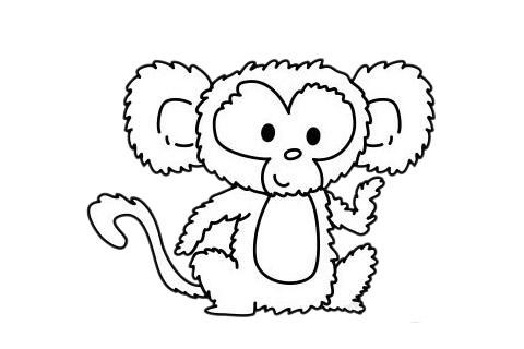 简单好看的猴子简笔画 中级简笔画教程-第11张