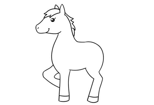 漂亮的小马简笔画画法步骤步骤图片大全 动物-第3张
