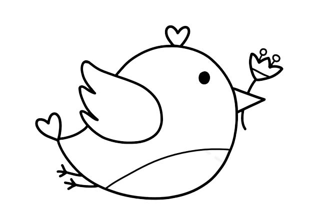 彩色小鸟的简画法 初级简笔画教程-第6张