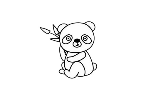 怎么画熊猫简单画法 初级简笔画教程-第1张