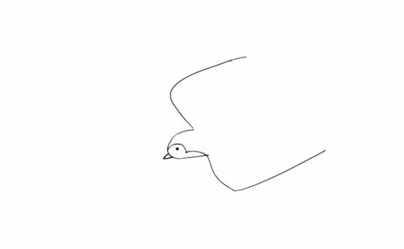 教小朋友画燕子简笔画 中级简笔画教程-第3张