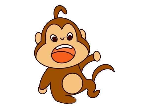 q版猴子简笔画图片 中级简笔画教程-第1张