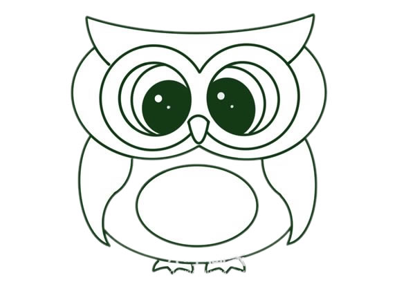 猫头鹰怎么画,儿童简笔画猫头鹰 动物-第7张