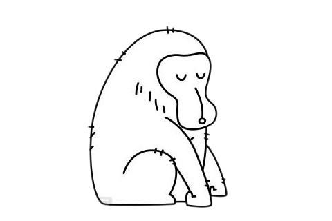 卡通猩猩简笔画绘画教程 中级简笔画教程-第9张