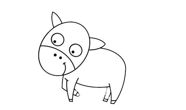 可爱卡通马简笔画 卡通马简笔画步骤图解教程 中级简笔画教程-第4张