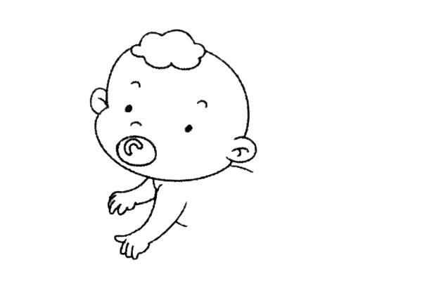 简单九步学画小婴儿简笔画 中级简笔画教程-第6张