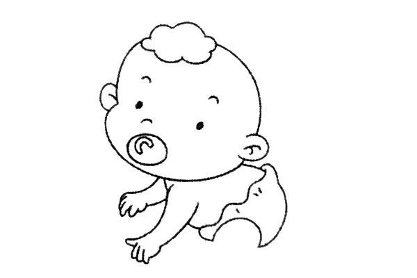 简单九步学画小婴儿简笔画 中级简笔画教程-第8张