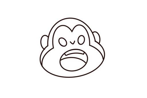 q版猴子简笔画图片 中级简笔画教程-第3张