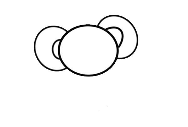卡通考拉简笔画画法步骤步骤图片 中级简笔画教程-第3张