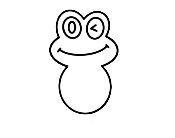 荷叶上的青蛙简笔画彩色 动物-第4张