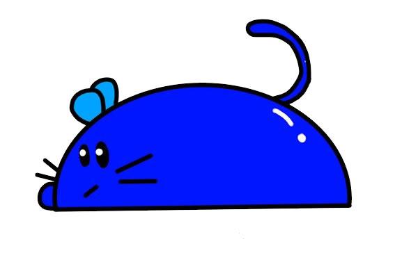 简笔画小老鼠的画法步骤步骤图片 动物-第1张