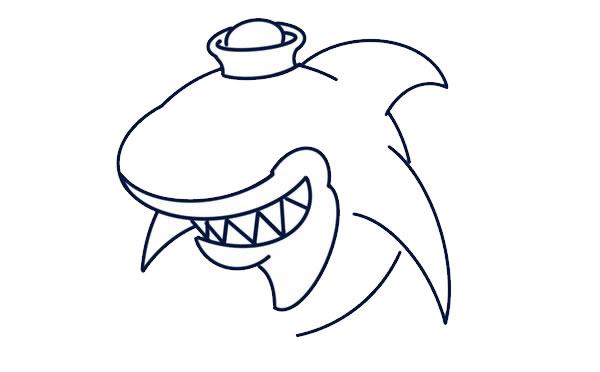 q版鲨鱼简笔画画法教程 中级简笔画教程-第5张