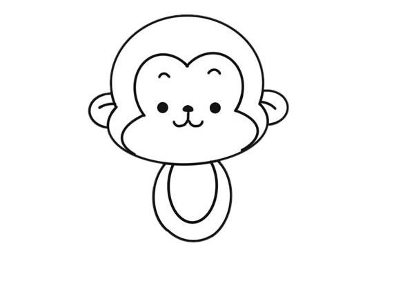 吃香蕉的猴子简笔画图片大全 动物-第5张
