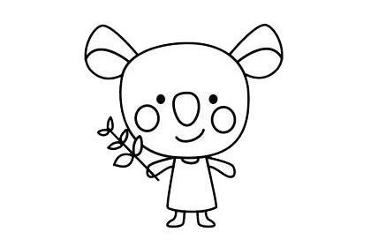考拉简笔画简单画法 初级简笔画教程-第9张
