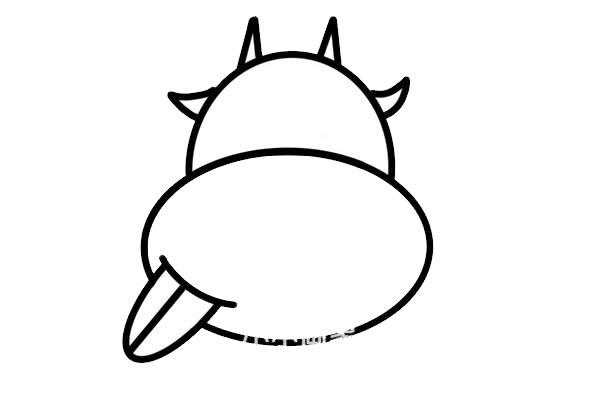 调皮小牛头像简笔画画法步骤步骤图片 动物-第5张