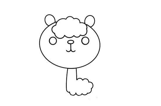 卡通羊驼简笔画步骤图解教程 中级简笔画教程-第4张