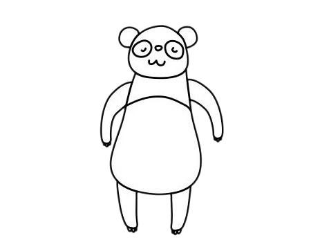 怎么画熊猫简单画法 初级简笔画教程-第9张