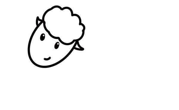 简笔画绵羊的画法步骤步骤图片 动物-第4张
