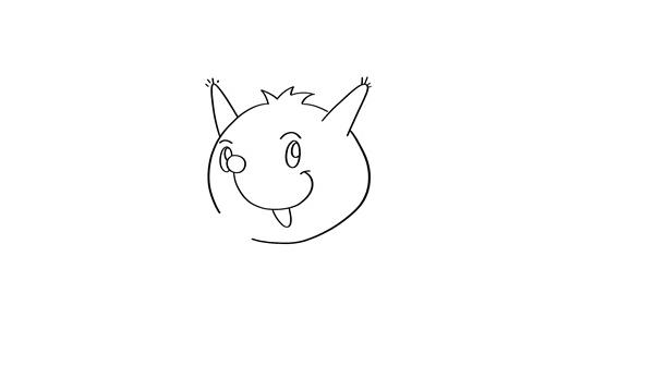 小松鼠怎么画j简单又可爱 卡通松鼠简笔画教程 中级简笔画教程-第2张