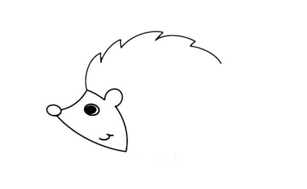 刺猬怎么画,小刺猬儿童简笔画 初级简笔画教程-第3张