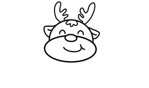 可爱的卡通驯鹿简笔画画法 中级简笔画教程-第4张