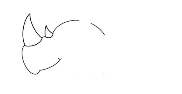 犀牛简笔画彩色画法教程 初级简笔画教程-第2张