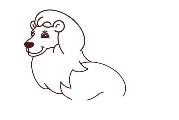 狮子王简笔画彩色图片 中级简笔画教程-第5张