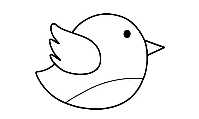 彩色小鸟的简画法 初级简笔画教程-第4张