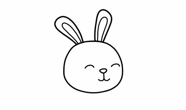 小兔子吃胡萝卜简笔画 中级简笔画教程-第4张
