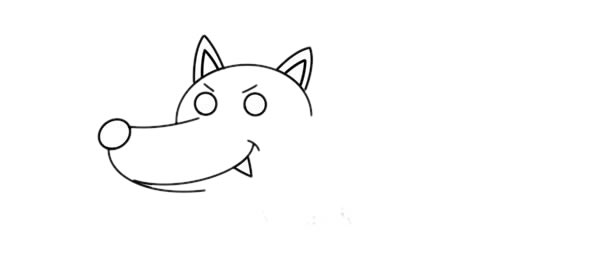 大灰狼怎么画,大灰狼儿童简笔画教程 初级简笔画教程-第3张