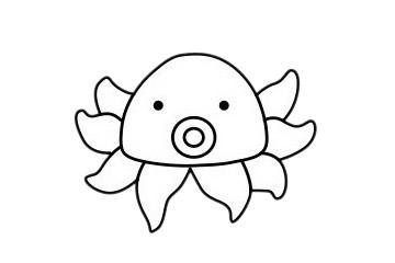 简单又漂亮的章鱼怎么画 初级简笔画教程-第2张