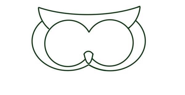 猫头鹰怎么画,儿童简笔画猫头鹰 动物-第3张