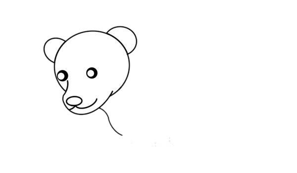 北极熊怎么画简朴又悦目 可爱北极熊简笔画 中级简笔画教程-第3张