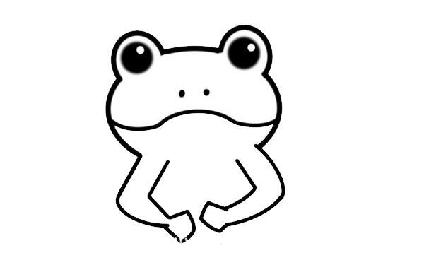 绿色的小青蛙简笔画画法 中级简笔画教程-第3张